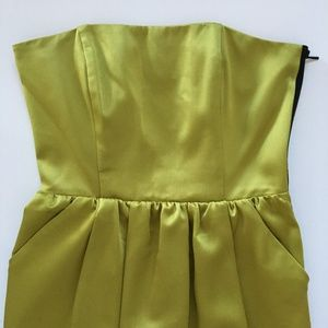 RACHEL Rachel Roy Dresses - Satin Strapless Party Dress with Caged Open Back